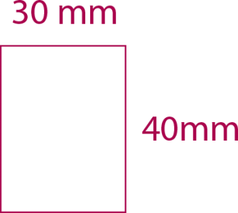 30mm x 40mm