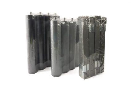 Set of 4 legs for mattress base L-25 cm
