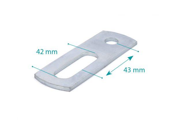 Junction plate M10 L=90