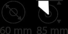 60mm x 85mm